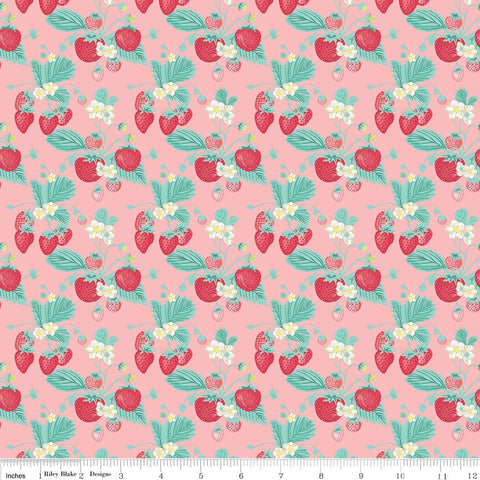 Shabby Strawberry Main in Pink