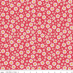 Shabby Strawberry Daisy in Red from Shabby Strawberry by Emily Hayes for Penny Rose Fabrics