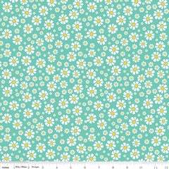Shabby Strawberry Daisy in Teal from Shabby Strawberry by Emily Hayes for Penny Rose Fabrics