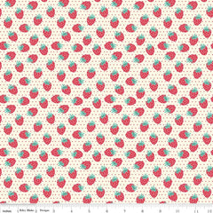 Shabby Strawberry Berry in Cream from Shabby Strawberry by Emily Hayes for Penny Rose Fabrics