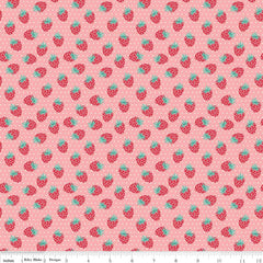 Shabby Strawberry Berry in Pink from Shabby Strawberry by Emily Hayes for Penny Rose Fabrics