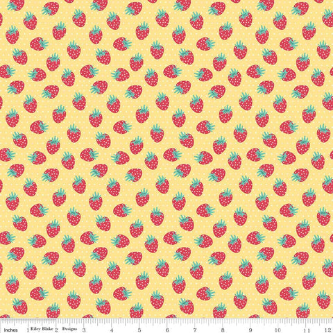 Shabby Strawberry Berry in Yellow