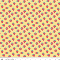 Shabby Strawberry Berry in Yellow from Shabby Strawberry by Emily Hayes for Penny Rose Fabrics