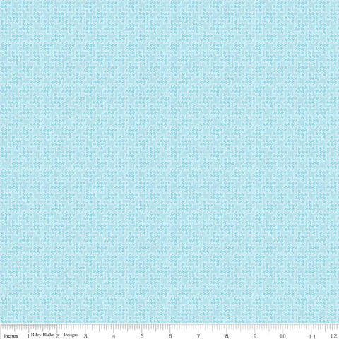 Shabby Strawberry Houndstooth in Blue