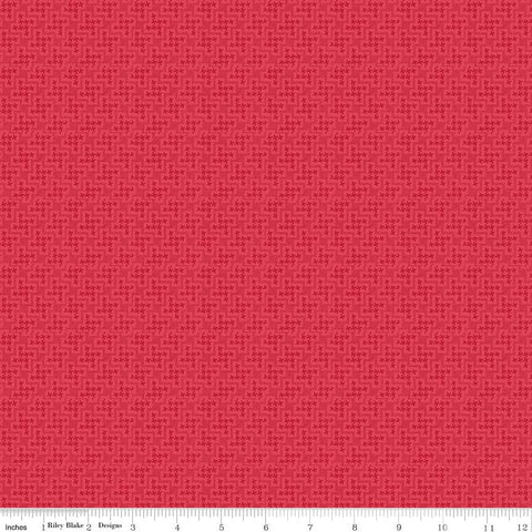 Shabby Strawberry Houndstooth in Red