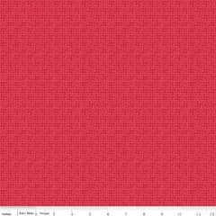 Shabby Strawberry Houndstooth in Red from Shabby Strawberry by Emily Hayes for Penny Rose Fabrics
