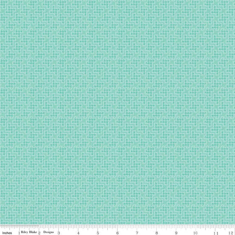 Shabby Strawberry Houndstooth in Teal