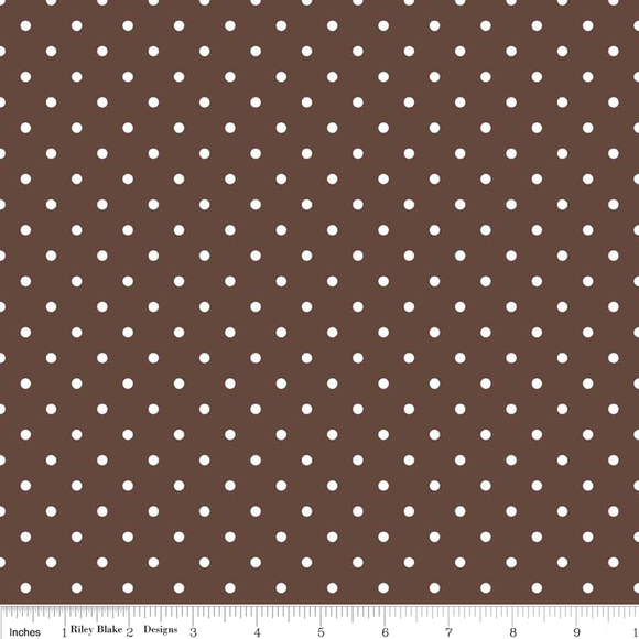 Swiss Dot in Brown