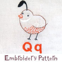 Quail Embroidery - PDF Accessory Pattern by Penguin and Fish