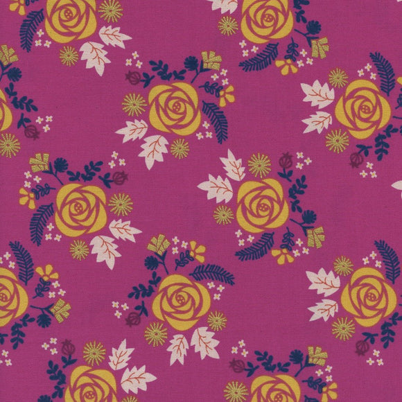 Akoma Wildflower Metallic in Fuchsia