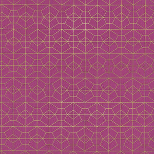 Akoma Geo Grid Metallic in Fuchsia