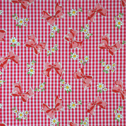 Ribbon Gingham in Pink
