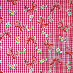 Ribbon Gingham in Pink from Old New 30s by Yuwa House Designers  for Yuwa