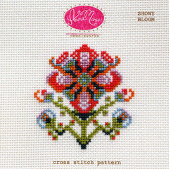Showy Bloom - Printed Pattern by Anna Maria Needleworks