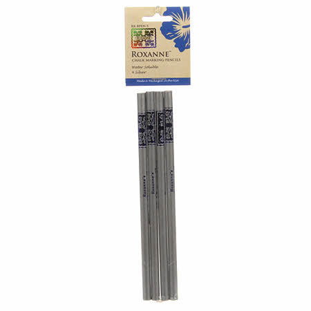 Roxanne Quilter's Choice Marking Pencils Silver 4ct