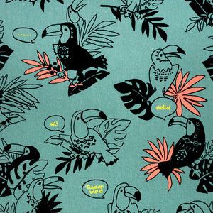 Toucans in Sea Green