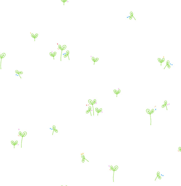 VF102-GR2 Neutrals Field in Green by Victoria Findlay Wolfe for Cotton+Steel from Pink Castle Fabrics