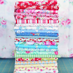 Random Vintage Inspired Fat Eighth Pack from Mystery Bundles by Sarah Watts for Kokka