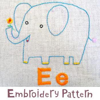 Elephant Embroidery - PDF Accessory Pattern
