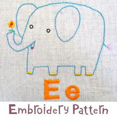 Elephant Embroidery - PDF Accessory Pattern by Penguin and Fish