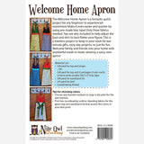 Welcome Home Apron - PDF Accessory Pattern