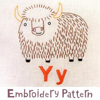Yak Embroidery - PDF Accessory Pattern