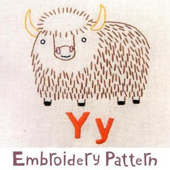 Yak Embroidery - PDF Accessory Pattern by Penguin and Fish