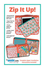 Zip It Up! - Printed Bag Pattern from Patterns by Annie by Annie Unrein for ByAnnie
