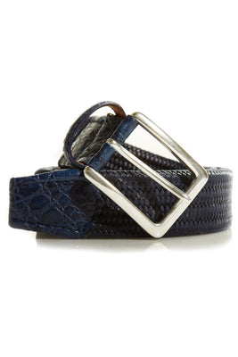 Stitch Braided Crocodile Belt