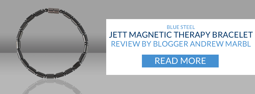 Bluesteel Jett Magnetic Therapy Bracelet Review by Blogger Andrew Marbl