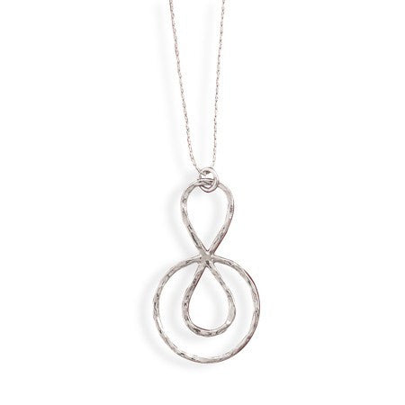 Jubilee Necklace - Artistic Design Sterling Silver Glorious Style Necklace