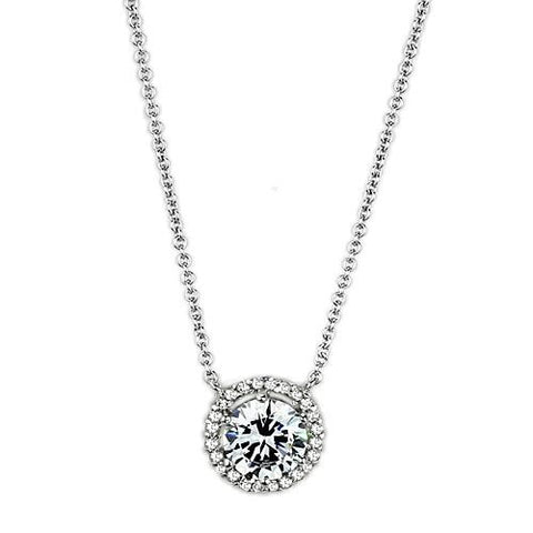 Charming Shine - Rhodium Plated Pendant with CZ Stones
