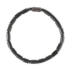 Jett – USA handmade black hematite magnetic therapy men's bracelet