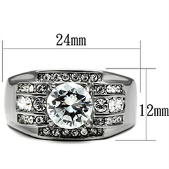 Bogart - Men's Stainless Steel CZ Statement Ring