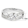 Catherine - A Gorgeous Women's Rhodium Plated Brass Ring with AAA Grade Clear CZ Stones