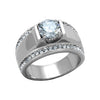 Colossal - Men's Stainless Steel Clear CZ Statement Ring