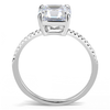 Divinity - A Timeless Stainless Steel Engagement Ring With A Cubic Zirconia 2 CT. Eq. Stone
