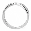 Allure - Women's Stainless Steel High Polished No Plating CZ Ring