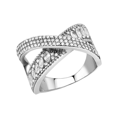 Embrace - Women's Stainless Steel AAA Grade Clear CZ Ring