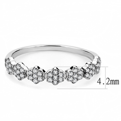 Daisy - Women's Stainless Steel AAA Grade Clear CZ Ring