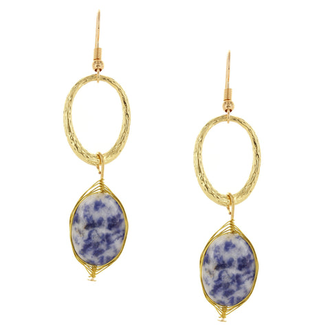 Olivia Welles - Earth Stone Earrings