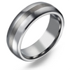 El Mirage - Men's Titanium Ring with Two Tone Finish