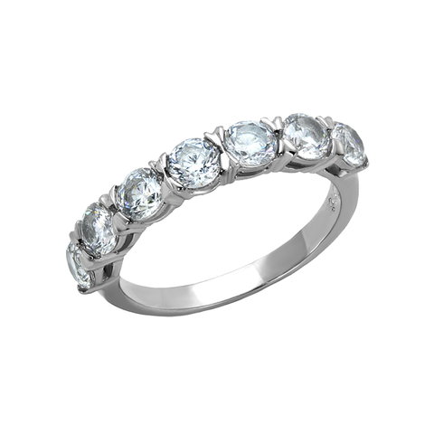 For You - Women's Stainless Steel AAA Grade Clear CZ Ring
