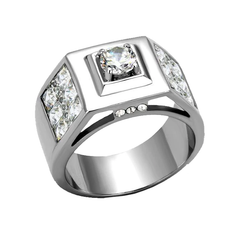 Franklin - Men's Stainless Steel CZ Statement Ring