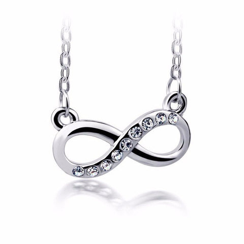 Infinity And Beyond - Crystal Infinity Pendant Necklace