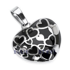 Heart Beat - Vivid Work-Of-Art Stainless Steel Beautifully Crafted Pendant