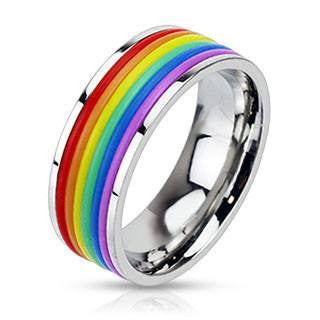 Hue Cycle - Multi Rubber Banded Comfort Fit Ring