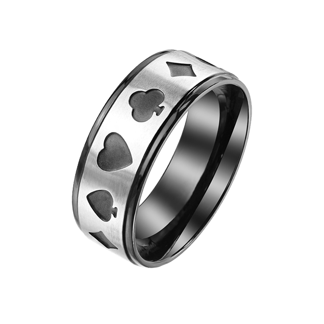 Jack of All Trades - Men's Two Tone Black Stainless Steel Ring