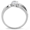 Joanna - A Simply Stunning Women's Stainless Steel Ring with AAA Grade Clear CZ Stones