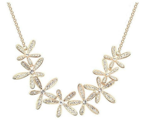 Olivia Welles - Sparkling Flowers Necklace